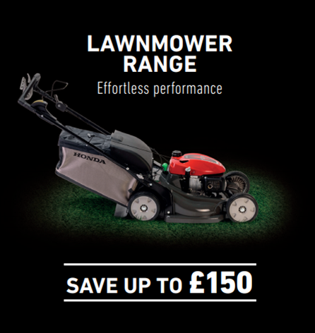 Honda ped mower up to £150 saving